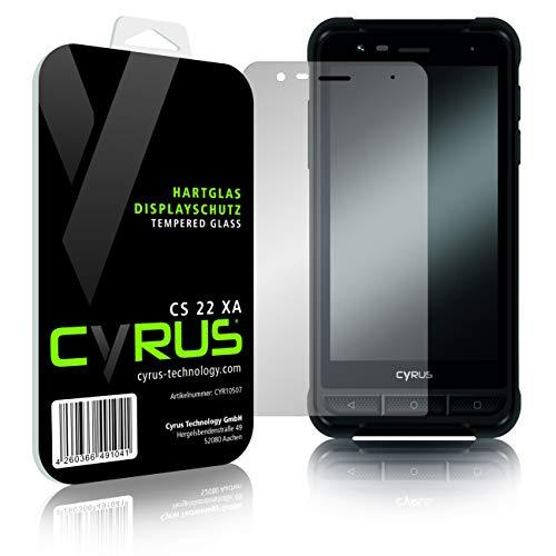 Cyrus Original Hartglas Displayschutz für CS22 XA mit Zubehör für die einfache und blasenfreie Montage
