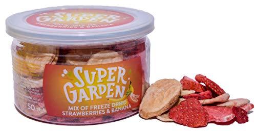 Supergarden Gefriergetrocknete Banane & Erdbeeren - Gesunder Snack - 100% Rein Und Natürlich - Für Veganer Geeignet - Ohne Zuckerzusatz, Künstliche Zusatzstoffe Und Konservierungsmittel