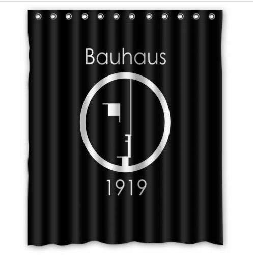 WENHUI About Bauhaus 1919 Duschvorhang strapazierfähiger Stoff Schimmel Badezimmer Zubehör Kreativ mit 12 Haken 180 x 180 cm
