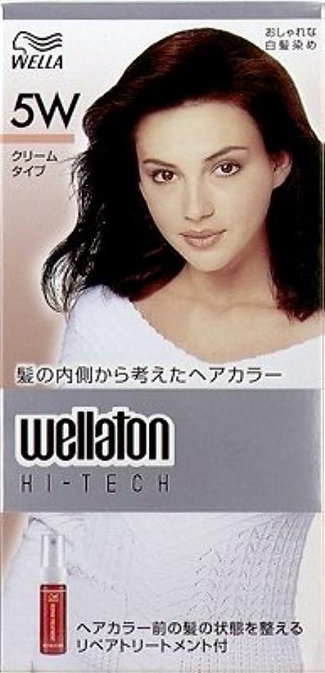 条約書士シャックル【ヘアケア】P&G ウエラトーン ハイテック クリーム 5W 暖かみのある深い栗色 医薬部外品 白髪染めヘアカラー(女性用)×24点セット (4902565140527)