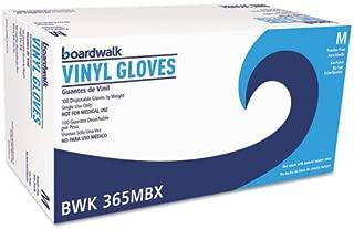 Boardwalk 365MBX General Purpose Vinyl Gloves, Powder/Latex-Free, 2 3/5mil, Medium, Clear, 100/Bx