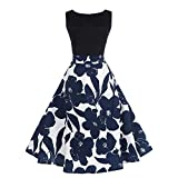 Londony Hot Women's 1950s Butterfly Floral Vintage Dresses Audrey Hepburn Style Party Dres...