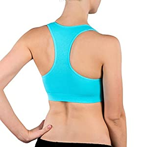 Alyce Intimates Womens Racerback Sports Bra, Pack of 4, Assorted, Large