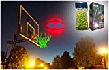 MCNICK & COMPANY LED Glow in The Dark Basketball + NET - 100 Hour Battery Life - Light up Basketball Net Hoop