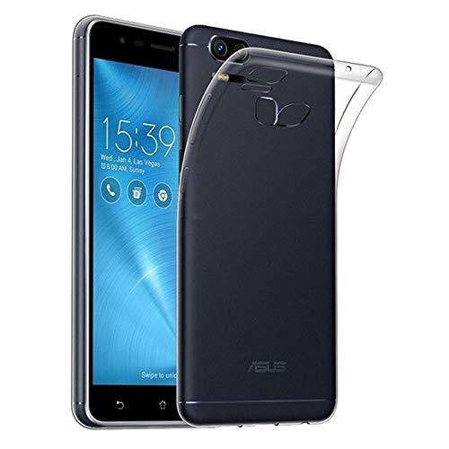 REY Funda Carcasa Gel Transparente para ASUS ZENFONE 3 Zoom 5.5' ZE553KL, Ultra Fina 0,33mm, Silicona TPU de Alta Resistencia y Flexibilidad