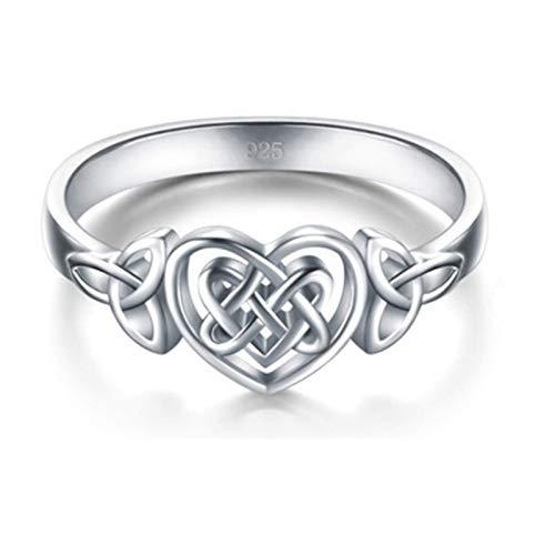 Anillo y collar para el día de la madre, anillo para el día de la madre, anillo para el día de la madre, anillo de compromiso, elegante, anillo de boda, regalo B - D, collar de plata ajustable