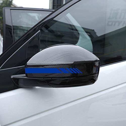 Autodomy Pegatinas Espejo Retrovisor Coche con Diseño de Franjas Rayas Pack de 6 Unidades con Diferentes anchuras para Coche (Azul)