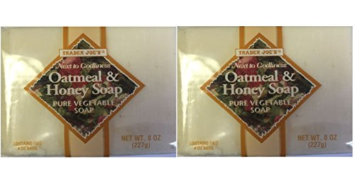 Trader Joe's Oatmeal & Honey Soap Pure Vegetable Soap 2 pack = 4 bars total