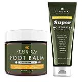 THENA Tea Tree Oil Antifungal Cream Extra Strength and Manuka Honey Cream Moisturizer Bundle