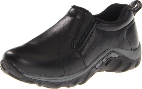 Merrell Kids' Unisex Jungle Moc Leather Kids Moccasin, Black, 6 Big Kid M