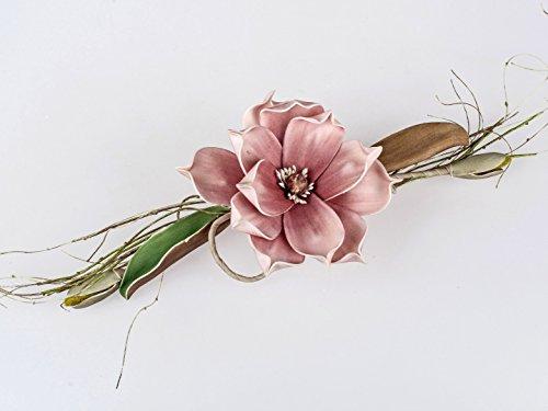 Formano Tischdeko Kunstblume Magnolienzweig Altrosa 14x38cm