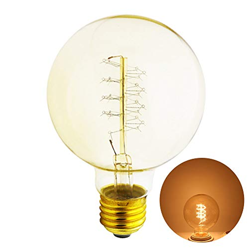 Xindaxin® 1 Stück Edison Glühbirne E27 Fassung, Dimmbar, 40W, 2200K, Warmweiß, 220-240V, Antike Filament Beleuchtung im Vintage Look
