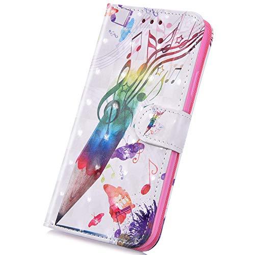 Surakey Cover Compatibile con Samsung Galaxy J1 2016 Custodia Flip PU Pelle Modello Creativo 3D Case Libro Portafoglio Cover con Supporto Porte Carte Custodia per Samsung Galaxy J1 2016,Penna