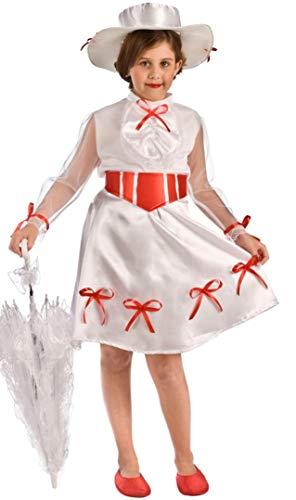 Costume da Supertata Poppins Magica per bambina P2-(6/7 anni)