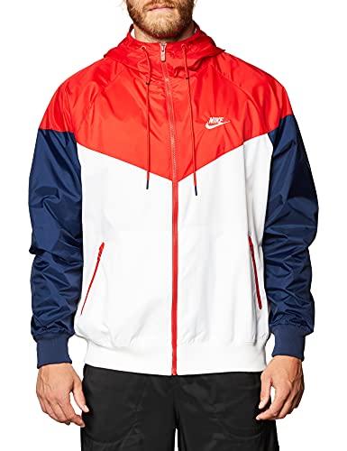 Nike Herren Windrunner Hd Jake, White/University Red/Midnight, L