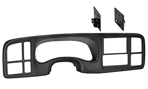 Ai GMK346TB Double DIN Dash Kit for 1999-2002 GM Trucks/SUV's OEM Textured, Full Size, Black