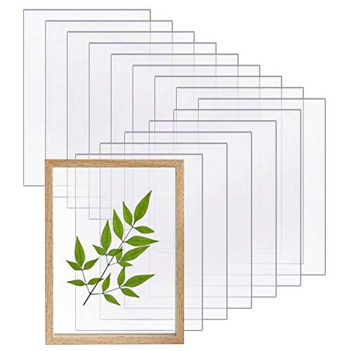 15PcsTransparente Acryl Blätter Acrylplatten Acrylglas Klare Acryl Blätter Acryl Plexiglas Acrylplatte für Bilderrahmen Projektausstellung, Malerei (18 * 13cm)
