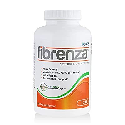 HCP Formulas - Fibrenza - Systemic Enzyme Complex with Fibrinolytic & Proteolytic Enzymes - Fibrin Defense, Inflammation Control, & Cardiovascular Support - Vegetarian - Dietary Supplement - 240 Caps