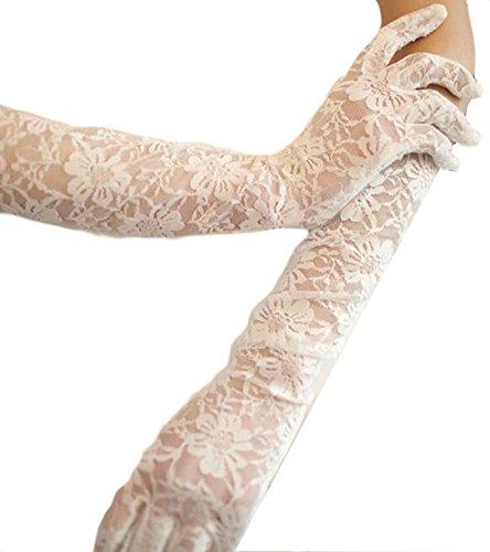Élégantes Gants de mariage mariée cortège des gants de dentelle de robe-02