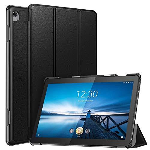 ZtotopCase Funda para Lenovo Tab M10 HD 10.1 Pulgadas 2018, Funda Inteligente de PU Ultrafina con Cubierta Frontal Triple para Lenovo Tab M10 (TB-X505L / TB-X505F / TB-X605L / TB-X605F), Negro