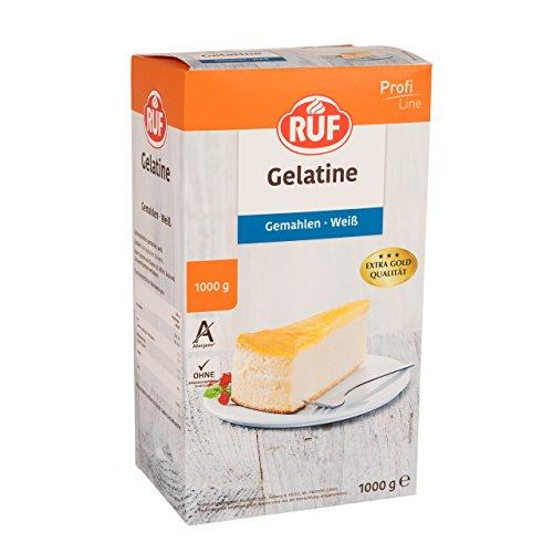 Ruf Gelatine weiß gemahlen Großpackung extra gold Qualität ohne Allergene, 1er Pack (1 x 1000 g)