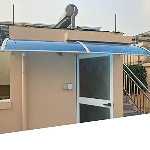 Tejadillo De Protección, Curvo Marquesina para Puertas Y Ventanas Protección contra La Lluvia UV Expandible Tablero De Policarbonato para Patio Exterior De Puerta Principal MAHFEI