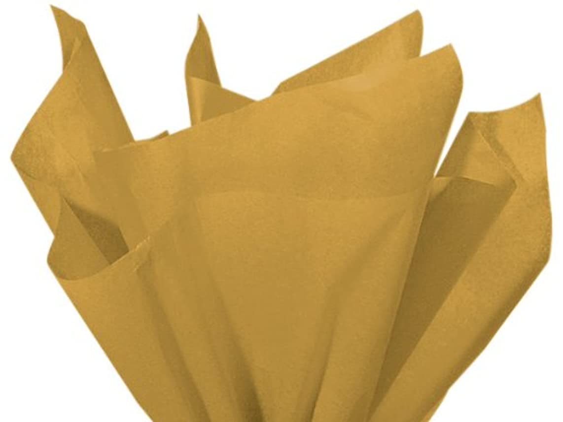 Antique Gold Tissue Paper 20 Inches X 30 Inches - 48 Sheets Pack