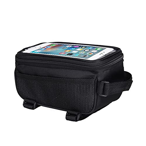 Bicycle Bag Bicycle Bag Cycling Accessories Waterproof Touch Screen MTB Frame Front Tube Storage Mountain Road Bike Bag for 5.0 inch Phone