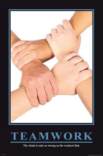 Empire Poster avec Slogan motivant (en Anglais) Teamwork + Accessoires de Fixation Multicolore