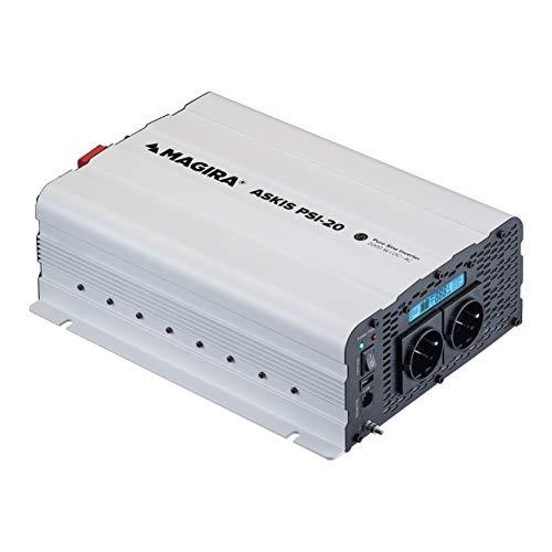 MAGIRA Askis 2000W 12V zu 230V Sinus-Wechselrichter PSI-20 mit reiner Sinuswelle für Wohnmobil oder Garten