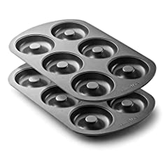 NO MORE SILICONE | CHOOSE STRONG, SAFE PANS: Some silicone pans can leach dangerous chemicals and odors into your food. Our premium 12.5-inch x 8.5-inch nonstick donut pans are manufactured with heavy, reliable, food-rated steel, so you can focus on ...