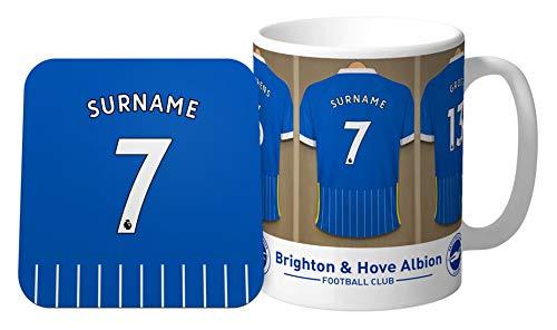 Brighton & Hove Albion Personalised FC Dressing Room Shirts Mug & Coaster Set