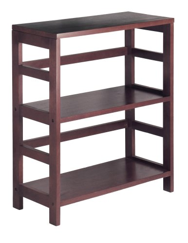 Winsome Wood 92326 Leo Model Name Shelving, Small and Large, Espresso