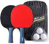 Conjunto de Tenis de Mesa Los palos de ping-pong Raqueta Conjunto deporte de la paleta de tenis de mesa for interiores o exteriores de Inicio Juego de mango largo Profesional tenis de mesa de ping-pon