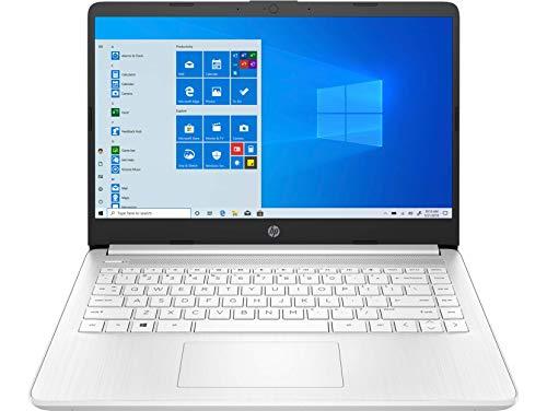 HP Stream 14s-fq0005ns - Ordenador portátil de 14' HD (Prcesador 3020e Dual, 4GB RAM, 64GB eMMc, AMD Radeon graphics, Windows 10 Home en modo S) Blanco Nieve – Teclado QWERTY español