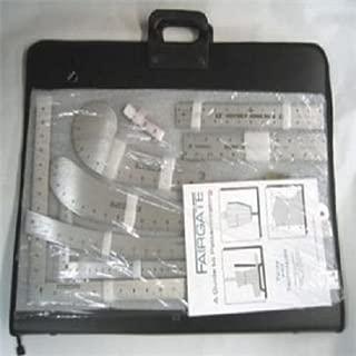 Fairgate 15-100 Fashion Designer's Inch Carryall Ruler Kit With Case