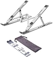 Laptop Stand,Adjustable Ergonomic Notebook Stand and Tablet Stand,Aluminum Folding Computer Desk Stand,Compatible with...