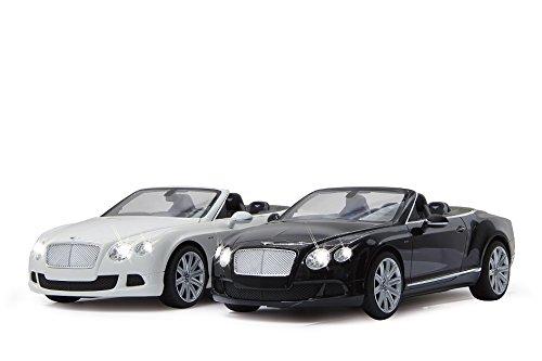 RC Auto kaufen Spielzeug Bild 4: RC Bentley Continental GT Speed Convertible (Cabrio) - schwarz oder weiß - Maßstab: 1:12 - LED-Licht - ferngesteuert, inkl. allen Batterien - RTR - LIZENZ-NACHBAU (Weiß 40MHz)*