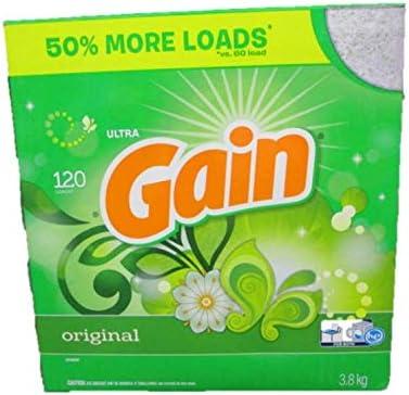 Gain Powder Laundry Detergent (Laundry Soap), HE Compatible, Original Scent, 120 Loads