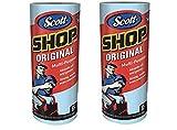 Scott 75130 Shop Towels - 2 pack (2 rolls) - 110 Towels total