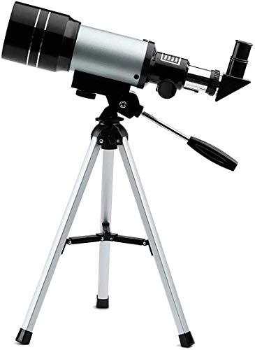 Gpzj Kinderteleskop für Anfänger Erwachsene, 70 mm Astronomisches Refraktor-Teleskop mit verstellbarem Stativ & Finder-Zielfernrohr - Tragbares Reiseteleskop Perfekt für Kinder, Kinder, Jugendliche