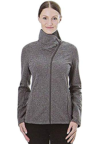Tuff Athletics Extra Small Women's Full Zip Fleece Jacket (Charcoal Mel.)