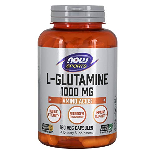 Now Foods - L-Glutamin 1000 mg, 120 Capsules, sans...