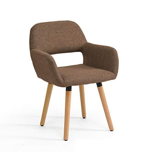 LJZslhei Stuhl Massivholz Stuhl Einfache Moderne Computer Stuhl Kreative Zurück Schreibtisch Stuhl Freizeit Home Stuhl Esszimmerstuhl Tiefe Kaffee Farbe
