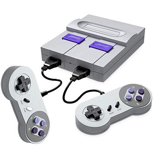 Aiboria Consola de videojuegos retro Classic con salida HDMI HD Classic Childhood 821 integrado con 2 mandos, consola de videojuegos para televisión familiar (gris)