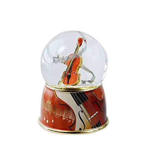 Xigeapg Spieluhr Kreative Spieluhr Kristall Kugel mit Schneeflocke Rotierende Schneeball Spieluhr (Gitarre)