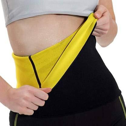 NETCLICK® Body Shaper Belt Non-Tearable Tummy Trimmer Slimming Belt for Men and Women (Size M, L, XL, XXL, 3XL, 4XL) (Black)