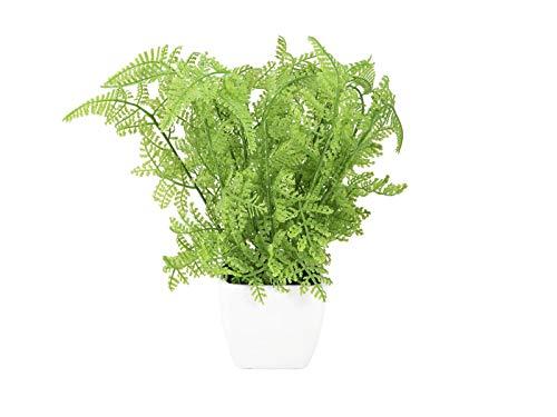 artplants.de Set 'Kunst Frauenfarn und UV Schutz Spray' - Kunstpflanze Farn ELIZABETTE, im Dekotopf, grün, 25cm, Ø 20cm