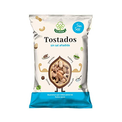 EL NOGAL Frutos Secos Cacahuete Repelado Tostado Sin Sal Bolsa,