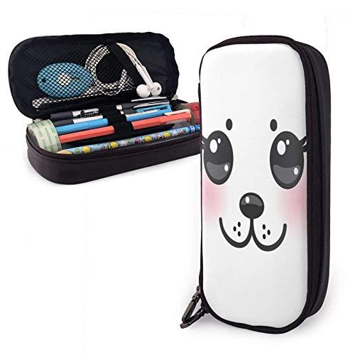 Estuche para lápices de cuero Seal Baby Pu con cierre de cremallera Estuche de transporte de gran capacidad para la oficina de la escuela